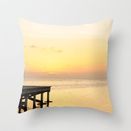 Sunset's in Belize Throw Pillow