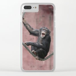 Chimpanzee_001_by_JAMFoto Clear iPhone Case