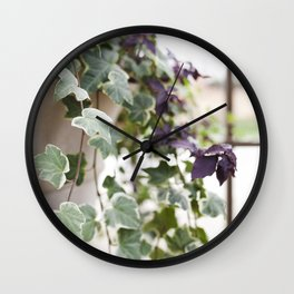 Trailing Ivy Wall Clock