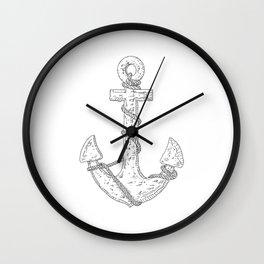 Anchor (Nautical Collection) - Black Wall Clock