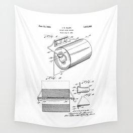 patent art Allen Toilet paper holder 1933 Wall Tapestry