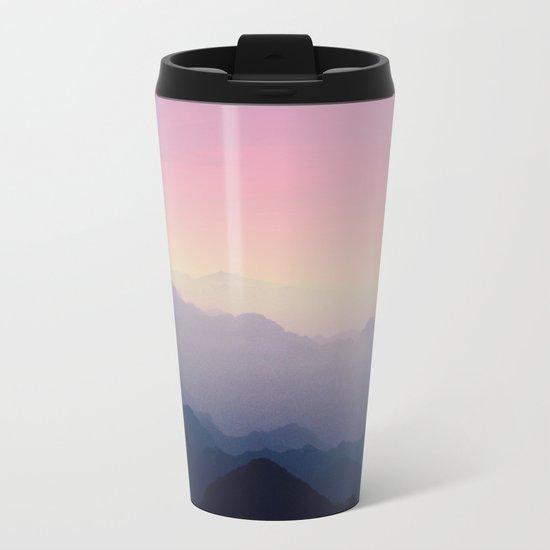 Foggy Mountains Metal Travel Mug