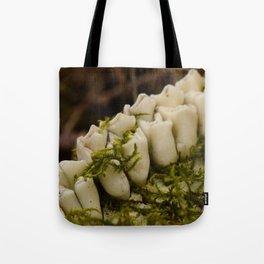 Moss Growing in Dead Deer Teeth #1 Tote Bag