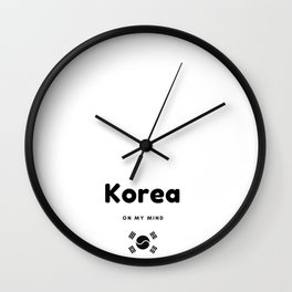 South Korea on my mind  Wall Clock