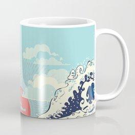 The Great Wave off Kanagawa stormy ocean with big waves Coffee Mug
