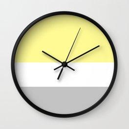Yellow & Grey Wall Clock