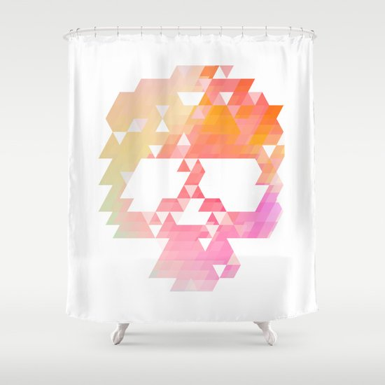 Skull Pink Shower Curtain