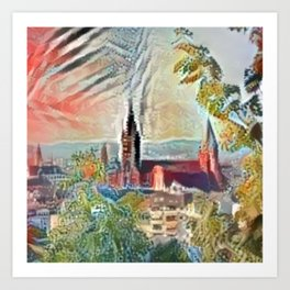 Fall Mainz Cathedral Art Print