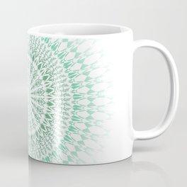 Mint White Geometric Mandala Coffee Mug