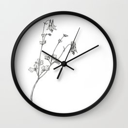 Eastern Red Columbine Wall Clock