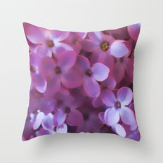 Lilac blur Throw Pillow