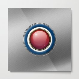 Glowing Red Button Metal Print
