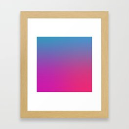 WIZARDS CURSE - Minimal Plain Soft Mood Color Blend Prints Framed Art Print