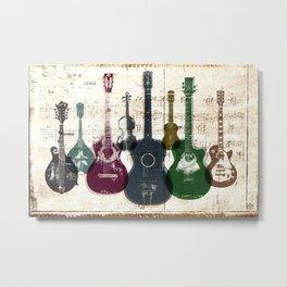 Dirty Guitars Metal Print