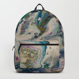 Peacock Flock - Abstract Acrylic Art by Fluid Nature Backpack