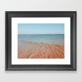 Red wave Framed Art Print