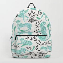 Cheetah Collection – Mint & Black Palette Backpack