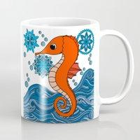 seahorse Mugs featuring Seahorse by tamaradeborah