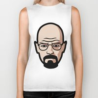 walter white Biker Tanks featuring Walter White by Joe Bidmead