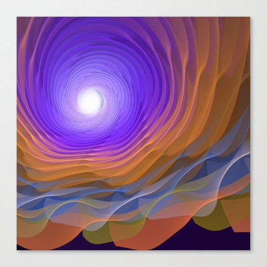 Whispering water and a blue moon Canvas Print