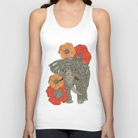 urban Tank Tops featuring The Elephant by Valentina Harper