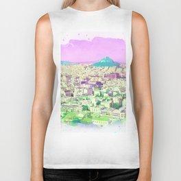 Athens Purple Sky Biker Tank
