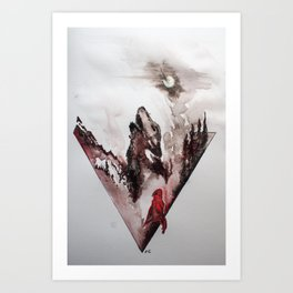 Red Cloak Art Print