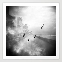 """Birds of a Feather"" Holga Double Exposure in San Diego, California Art Print"