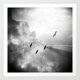 """Birds of a Feather"" Holga Double Exposure in San Diego, California Art Print"