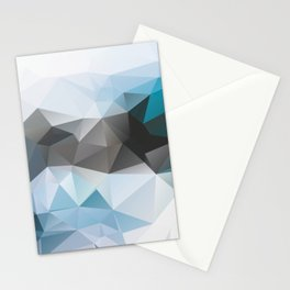 Blue Poly Stationery Cards