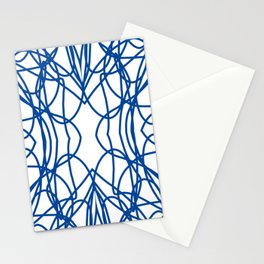 Blue Scribble Stationery Cards