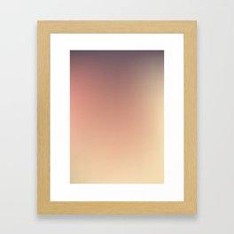 BRUISE / Plain Soft Mood Color Blends / iPhone Case Framed Art Print