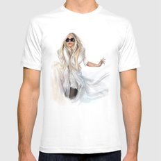 Mother Monster in  NYC SMALL White Mens Fitted Tee