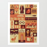 risa rodil Art Prints featuring Accio Items by Risa Rodil