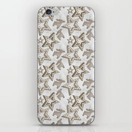 Christmas Stars And Deers iPhone Skin