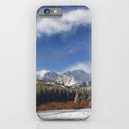 Winter Rocky Mountain Park Panorama iPhone Case