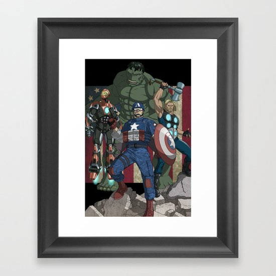 The Avengers: Earth's Mightiest Heroes Framed Art Print