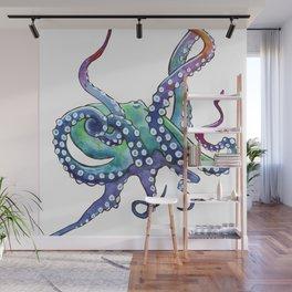 Rainbow Octopus Wall Mural