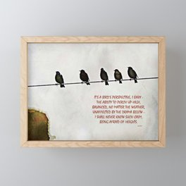 A Bird's Eye View Framed Mini Art Print