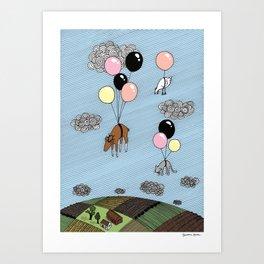 We´re flying Art Print