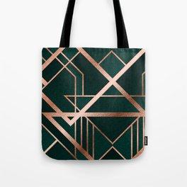 Green Art Deco Tote Bag