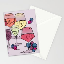 Wine and Grapes v2 Stationery Cards