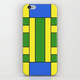 They were all yellow... blue and green iPhone Skin