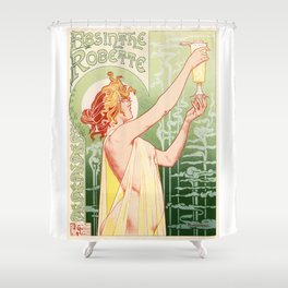 Belle Epoque vintage poster, drink Shower Curtain