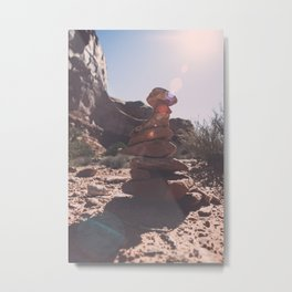 Trail Markers in Arches National Park Metal Print