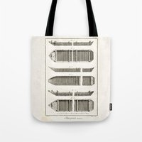 boats Tote Bags featuring Boats by Le petit Archiviste