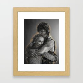 Beth & Daryl - when I'm gone Framed Art Print