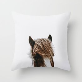 Wild Horse V / Iceland Throw Pillow