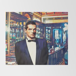 Falco at the Cafe Throw Blanket