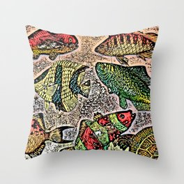 Fish Magnets Throw Pillow